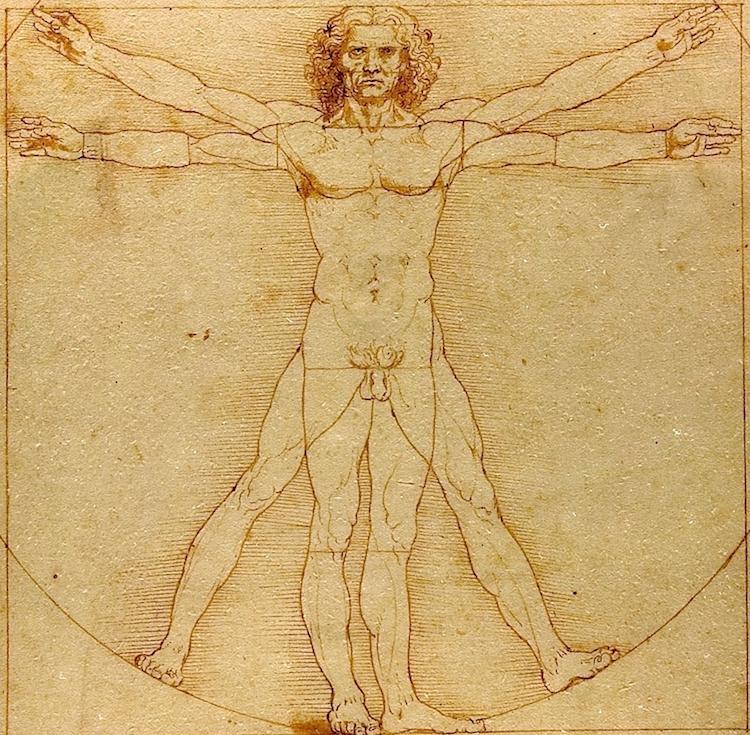 "Leonardo da Vinci's Famous ""Vitruvian Man"" Drawing"