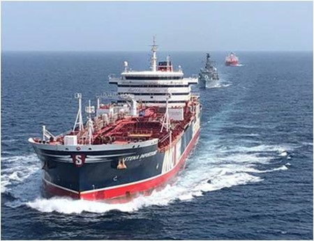 British Warships accompany commercial shipping near Iran
