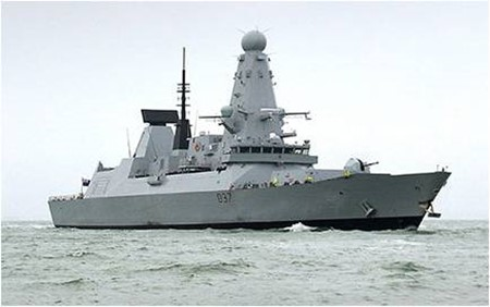 HMS Duncan deployed to the Gulf